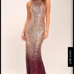 Sparkly gold/maroon dress